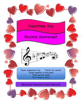February Valentine's Day Rhythm Name Match for General Music