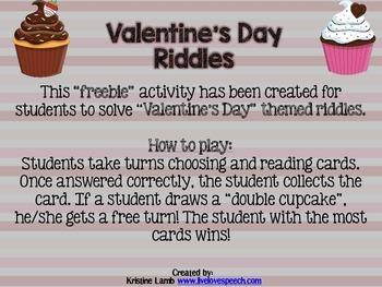 Valentine's Day Riddles {FREEBIE}