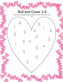 Valentine's Day Roll and Cover Freebie