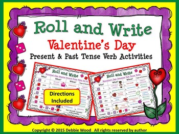 Valentine's Day Roll and Write Activities: Present & Past