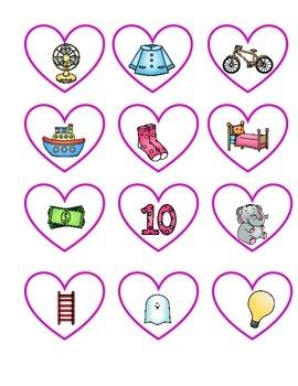 Valentine's Day SPANISH Alphabet Literacy Center (in color)