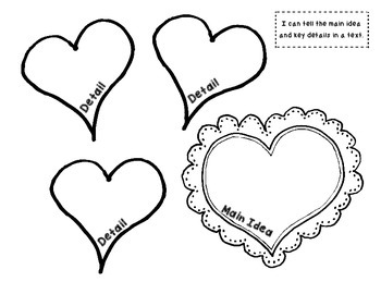 Valentine's Day SWEET FREEBIE for Interactive Literacy Notebook (Main Idea)