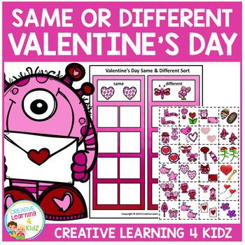 Valentine's Day Same & Different Sorting Board