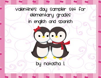 Valentine's Day Sampler for Lower Elementary (English and Spanish)
