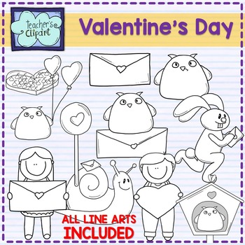 Valentine's Day - San Valentín Clip art - 36 IMAGES