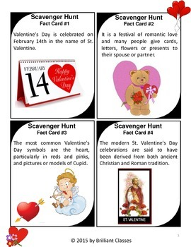 Valentine's Day Scavenger Hunt- {History & Fun Facts}