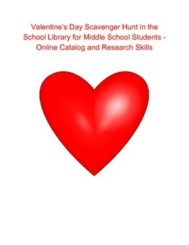 Valentine's Day Scavenger Hunt for the School Library