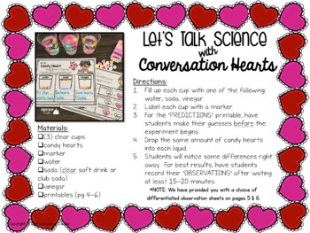 Valentine's Day Science: Candy Heart Experiment {FREE}!