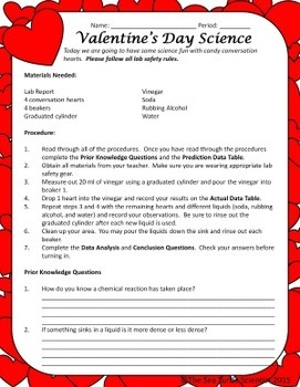 Valentine's Day Science Lab - Fun in the Classroom!