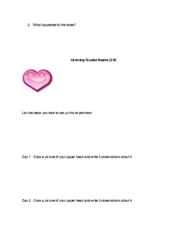 Valentine's Day Science Projects
