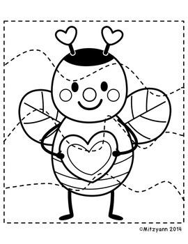 Valentine's Day Scissor Skills/ Cutting Practice