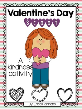 Valentine's Day Scoot: A Kindness Activity (Editable)
