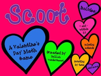Valentine's Day Scoot {Math Review Game}