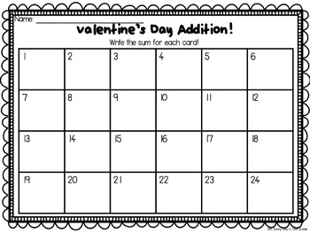 Valentine's Day Scoot {addition to 20}