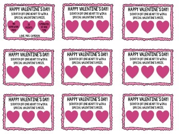 Valentine's Day Scratch Off Cards
