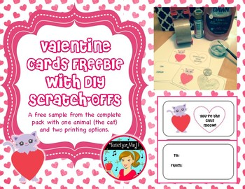 FREE Valentine's Day Cards Printable Craftivity with Scrat