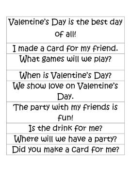 Valentine's Day Sentence Sort