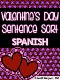 Valentine's Day - Sentence Sort {SPANISH}