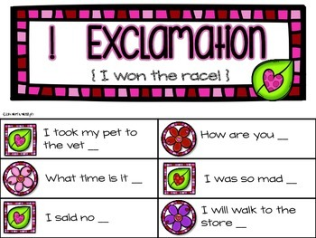 Valentine's Day Sentence Sorting {Statement, Question, Exclamation}