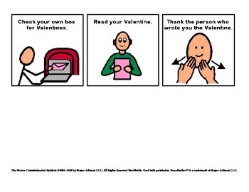 Valentine's Day Sequencing cards / Social Story