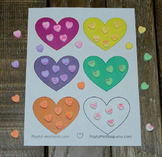 Valentine's Day Shape Activity - Fine Motor Counting Math Skills - Party Game