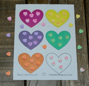 Valentine's Day Shape Activity - Fine Motor Counting Math