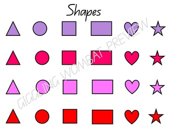 Valentines Day Shape Game