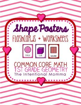 Valentine's Day Shape Posters, 1st grade common core