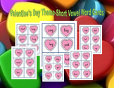 Valentine's Day Short Vowel Words-Literacy Center Cards