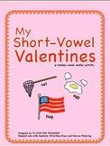 Valentines Day Short Vowel Center Activity