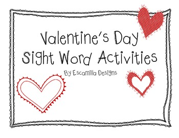Valentine's Day Sight Word Activities