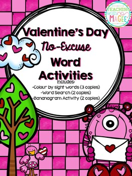 Valentine's Day Sight Word Activity Pack (NO PREP)