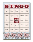 Valentine's Day Sight Word & Addition Fact Bingo