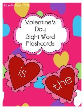 Valentine's Day Sight Word Flashcards