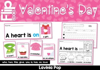 Valentine's Day Sight Word Fluency Flip Books