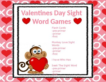 Valentines Day Sight Word Games