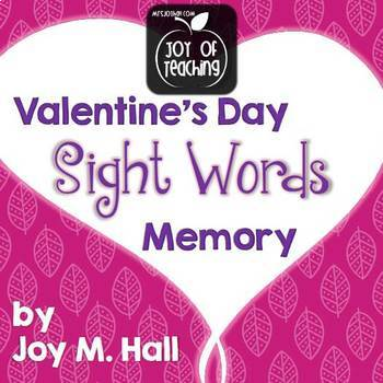 Valentine's Day Sight Word Memory - 3 Versions!