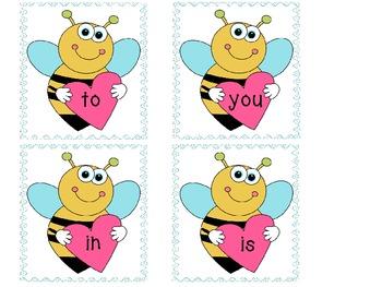 Valentine's Day Sight Words (100 + Kindergarten words)