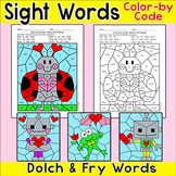 Valentine's Day Color by Sight Words Activities - Morning Work