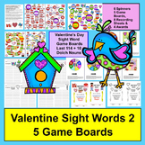 Valentine's Day Activities:  Sight Word Game Boards for Last 114 Dolch Words