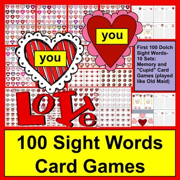 Valentine's Day Sight Words Card Games - Different Ways to Play