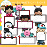 Blank Sign For Valentine's Day Clip Art
