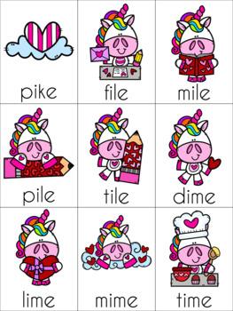 Valentine's Day Silent E Cards