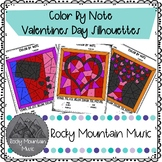 Valentines Day Silhouette Color by Note