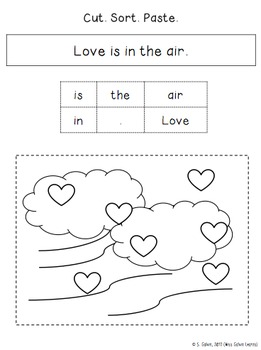 Valentine's Day Silly Sentence Sorts