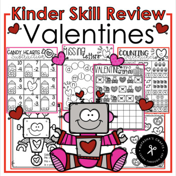 Valentines Day Skill Review Packet - NO PREP