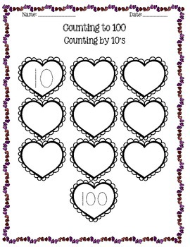 Valentine's Day Counting to 100