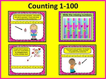 Valentine's Day Smart Board Counting & Addition: Preschool & Kinder