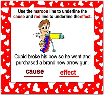 Valentine's Day Smartboard Cause and Effect Lesson - Lessons