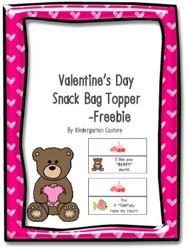 Valentine's Day Snack Bag Topper  -Freebie